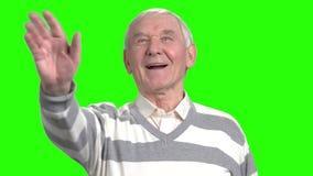 Εύθυμος παλαιός χαιρετισμός ατόμων απόθεμα βίντεο