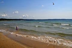 Εύθυμος στην παραλία στοκ φωτογραφίες με δικαίωμα ελεύθερης χρήσης
