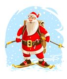 Εύθυμος χαρακτήρας κινουμένων σχεδίων Άγιου Βασίλη Χριστουγέννων απεικόνιση αποθεμάτων