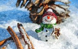 εύθυμος χιονάνθρωπος Γκουας σε χαρτί Αφελής τέχνη αφηρημένη τέχνη Γκουας ζωγραφικής σε χαρτί ελεύθερη απεικόνιση δικαιώματος