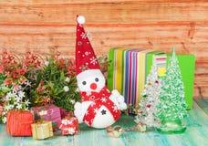 Εύθυμος χιονάνθρωπος Χριστουγέννων Στοκ φωτογραφία με δικαίωμα ελεύθερης χρήσης