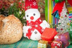 Εύθυμος χιονάνθρωπος Χριστουγέννων Στοκ Εικόνες