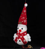 Εύθυμος χιονάνθρωπος Χριστουγέννων Στοκ Φωτογραφία