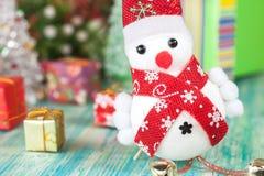 Εύθυμος χιονάνθρωπος Χριστουγέννων Στοκ Εικόνα