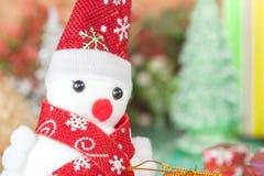 Εύθυμος χιονάνθρωπος Χριστουγέννων Στοκ εικόνα με δικαίωμα ελεύθερης χρήσης