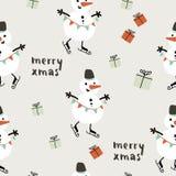 Εύθυμο άνευ ραφής σχέδιο Χριστουγέννων Στοκ εικόνα με δικαίωμα ελεύθερης χρήσης