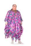 Εύθυμο άτομο, βασίλισσα έλξης, σε ένα θηλυκό κοστούμι Στοκ φωτογραφία με δικαίωμα ελεύθερης χρήσης