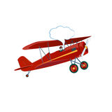 Εύθυμο αεροπλάνο Στοκ εικόνες με δικαίωμα ελεύθερης χρήσης
