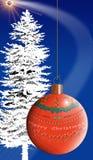 εύθυμο διάστημα Χριστουγέννων Απεικόνιση αποθεμάτων