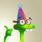 Εύθυμο εορταστικό φίδι. Στοκ Εικόνες