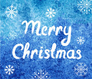 εύθυμο διάνυσμα Χριστουγέννων καρτών Υπόβαθρο χειμερινού watercolor με snowflakes Αφηρημένο εύκολο σύγχρονο πρότυπο απεικόνιση αποθεμάτων
