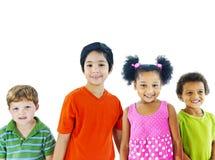 Εύθυμο διαφορετικό χέρι εκμετάλλευσης παιδιών Στοκ φωτογραφία με δικαίωμα ελεύθερης χρήσης