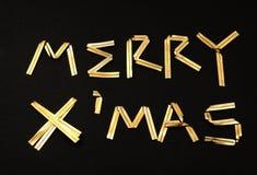 Εύθυμο κείμενο x'mas Στοκ φωτογραφία με δικαίωμα ελεύθερης χρήσης