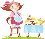 εύθυμο κορίτσι μικρό Ελεύθερη απεικόνιση δικαιώματος