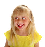 Εύθυμο κορίτσι ξανθό Στοκ Φωτογραφία