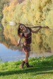 εύθυμο κορίτσι Στοκ Εικόνες
