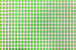 Εύθυμο κλασικό αγροτικό παραδοσιακό gingham σχέδιο πράσινος και άσπρος Στοκ εικόνες με δικαίωμα ελεύθερης χρήσης