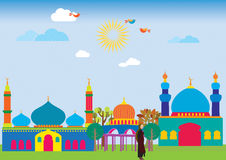 Εύθυμο μουσουλμανικό τέμενος Στοκ Εικόνα