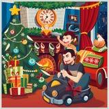 εύθυμο νέο έτος Χριστου&gamm Στοκ φωτογραφία με δικαίωμα ελεύθερης χρήσης