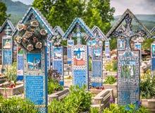 Εύθυμο νεκροταφείο Sapanta Στοκ φωτογραφία με δικαίωμα ελεύθερης χρήσης