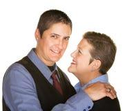Εύθυμο ομοφυλοφιλικό ζεύγος στοκ εικόνα με δικαίωμα ελεύθερης χρήσης