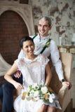 Εύθυμο παντρεμένο ζευγάρι Στοκ Εικόνες