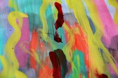 Εύθυμο υπόβαθρο watercolor χρωμάτων με τις μορφές Στοκ Εικόνες
