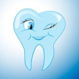 Εύθυμο όμορφο δόντι κινούμενων σχεδίων Στοκ Φωτογραφίες