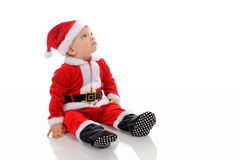 εύθυμο santa καπέλων Claus αγοριών Στοκ Εικόνες