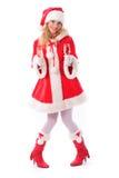 εύθυμο santa κοριτσιών Στοκ Φωτογραφίες