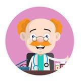 Εύθυμο Urologist που παρουσιάζει τα φάρμακα για την επεξεργασία διανυσματική απεικόνιση