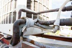Εύκαμπτος σωλήνας πίσω από τη μηχανή Στοκ Εικόνα
