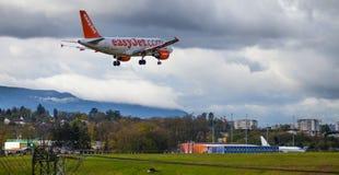 Εύκολο αεροπλάνο αεριωθούμενων αεροπλάνων Στοκ φωτογραφίες με δικαίωμα ελεύθερης χρήσης