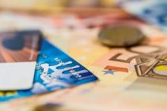 Εύκολα χρήματα φορτίων στην κάρτα Στοκ Εικόνα