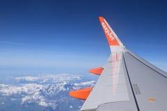 Εύκολη άποψη αεροπλάνων αεριωθούμενων αεροπλάνων από τον ουρανό Στοκ Εικόνες
