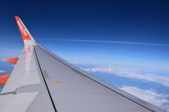 Εύκολη άποψη αεροπλάνων αεριωθούμενων αεροπλάνων από τον ουρανό Στοκ φωτογραφίες με δικαίωμα ελεύθερης χρήσης