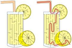 Εύκολος λαβύρινθος λεμονάδας Στοκ φωτογραφία με δικαίωμα ελεύθερης χρήσης