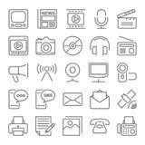 εύκολος επιμεληθείτε τα μέσα εικονιδίων στο διάνυσμα Στοκ φωτογραφίες με δικαίωμα ελεύθερης χρήσης