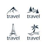 εύκολος επιμεληθείτε την εικόνα εικονιδίων που τίθεται ως στόχος να ταξιδεψει το διάνυσμα Στοκ Φωτογραφίες