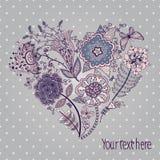 εύκολος επιμεληθείτε την καρδιά λουλουδιών Στοκ Εικόνες