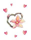 εύκολος επιμεληθείτε την καρδιά λουλουδιών Στοκ εικόνες με δικαίωμα ελεύθερης χρήσης