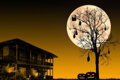 εύκολος επιμεληθείτε τη νύχτα εικόνας αποκριών στο διάνυσμα Στοκ Εικόνες