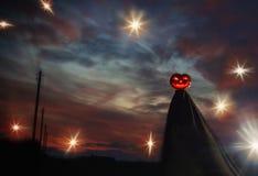 εύκολος επιμεληθείτε τη νύχτα εικόνας αποκριών στο διάνυσμα Στοκ Εικόνα