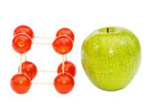 Εύκολος τύπος των μακρών ζωή με τις ντομάτες και τα μήλα Στοκ φωτογραφίες με δικαίωμα ελεύθερης χρήσης