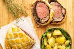 Εύκολο παραδοσιακό βόειο κρέας Ουέλλινγκτον στοκ φωτογραφία με δικαίωμα ελεύθερης χρήσης