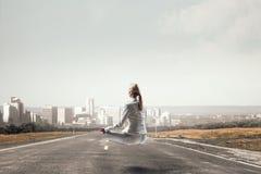 Εύρεση της εσωτερικής ισορροπίας Μικτά μέσα Στοκ Φωτογραφίες