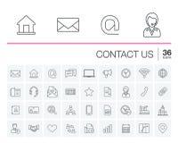 Ελάτε σε επαφή με μας και τα διανυσματικά εικονίδια επικοινωνίας διανυσματική απεικόνιση