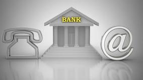Ελάτε σε επαφή με την τράπεζα απεικόνιση αποθεμάτων