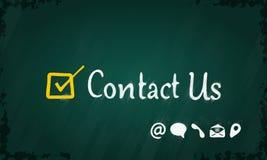 ελάτε σε επαφή με το ταχυδρομείο τηλεφωνά σε μας Στοκ Εικόνες