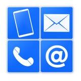 ελάτε σε επαφή με το ταχυδρομείο τηλεφωνά σε μας Στοκ Φωτογραφία